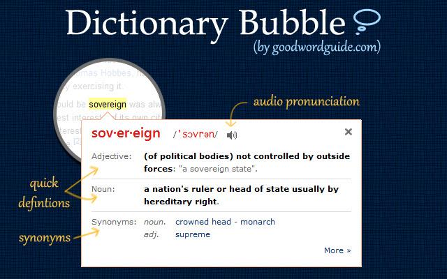 từ điển tức thì: GoodWordGuide.com
