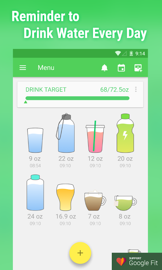 Screenshots of Water Drink Reminder for iPhone