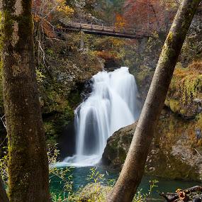 Waterfall Šum by Boris Podlipnik - Landscapes Waterscapes ( water, water drops, waterfall, rocks, river )