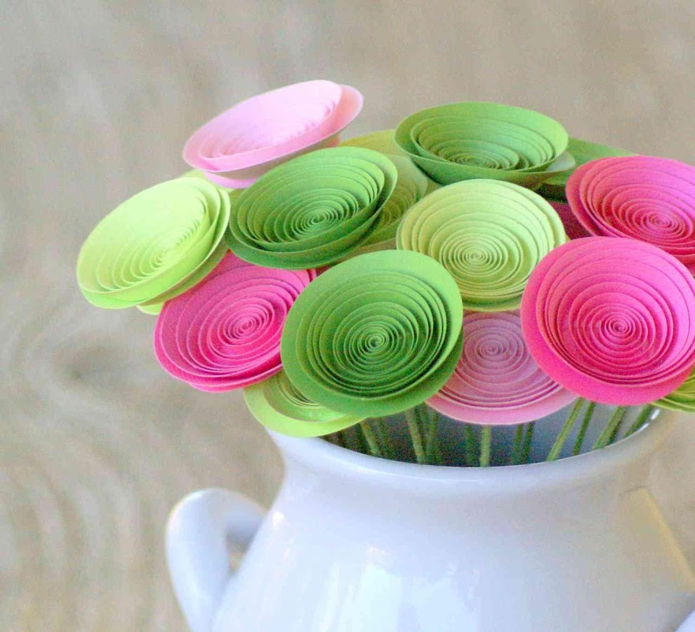 Outstanding color paper flowers picture collection best evening color paper flowers images flower decoration ideas mightylinksfo