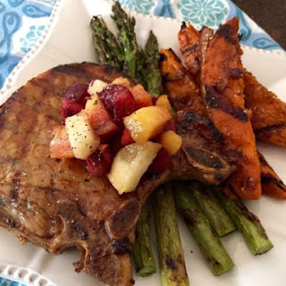 Sweet Tea Brined Pork Chops with Maple-Bourbon Glaze