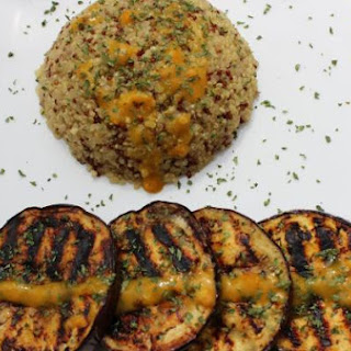 Quinoa With Grilled Aubergines