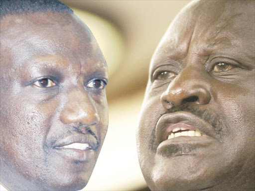 BITTER ANTAGONISTS: Deputy President William Ruto and Former Prime Minister and NASA leader Raila Odinga are at loggerheads.