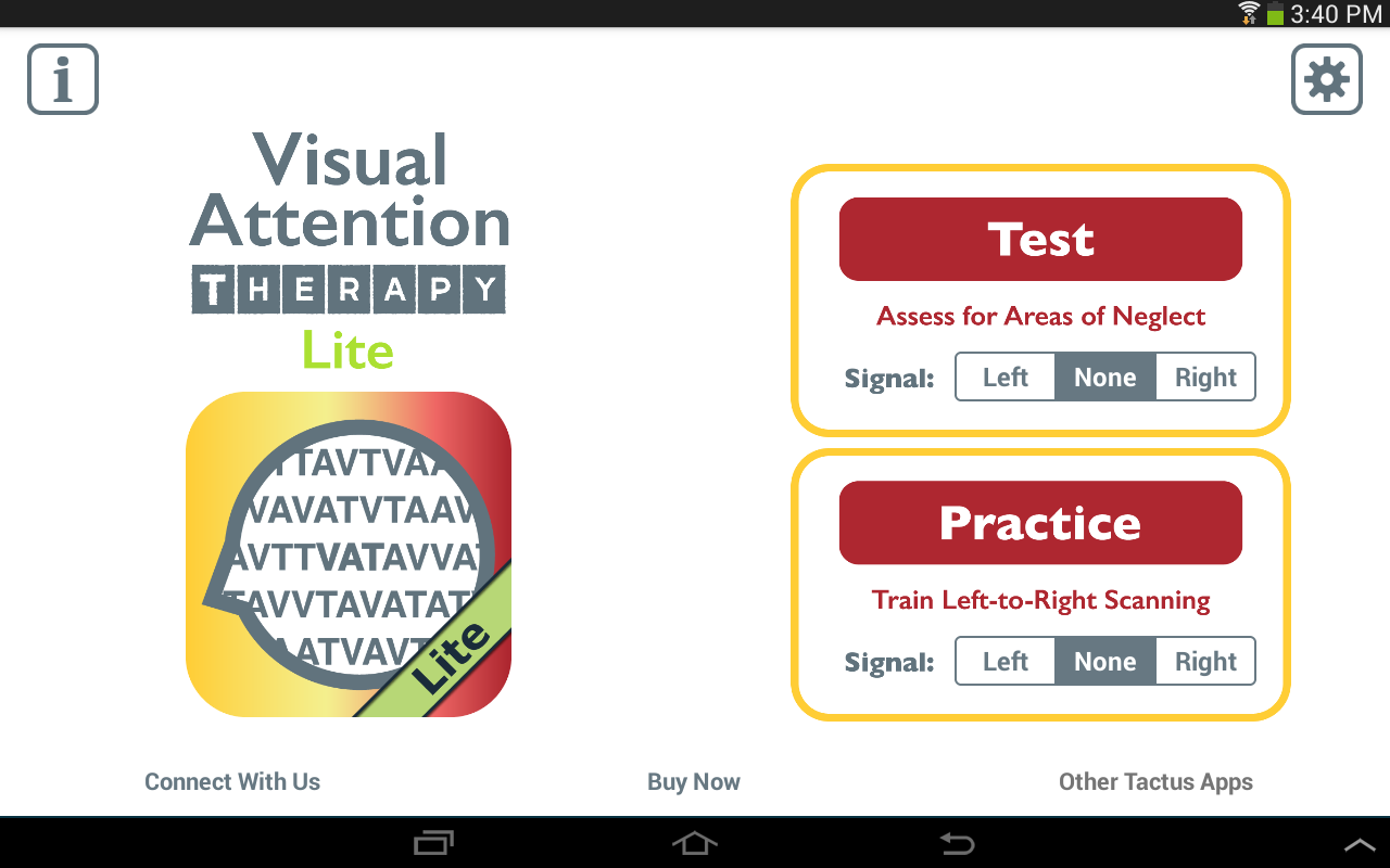 Visual Attention Therapy Lite- screenshot