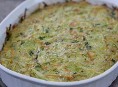 Broccoli Slaw Casserole Squares Recipe
