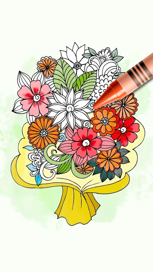 Coloring Pages Of Flowers Games : Flowers coloring pages android apps on google play