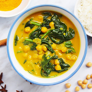 Chickpea & Spinach Curry with Coconut Milk Recipe