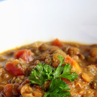 Moroccan Lentil Soup (adapted from Eating Well)