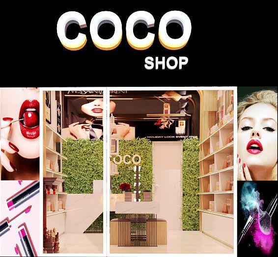 thiết kế shop mỹ phẩm coco 1
