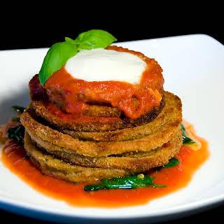 Healthy Baked Eggplant Parmesan.