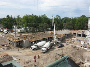 Photo: Brescia Pouring concrete 2nd floor south wing- Aug 13, 2012