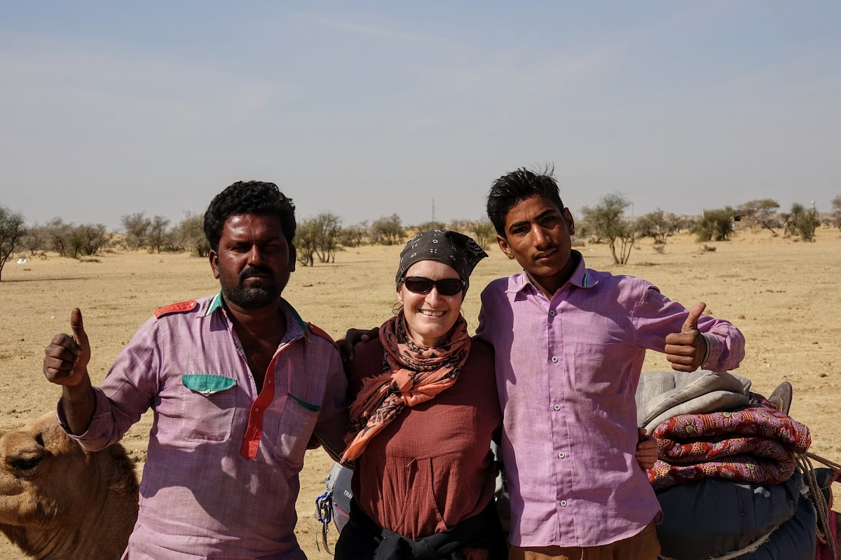 Thar. Desert Camel Trekking Day 3. Punja and Madan, our guides