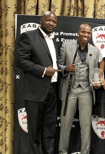Promoter Ayanda Matiti and retired former SA boxing champion Mabhuti Sinyabi.