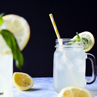 Honey-Sweetened Basil Lemonade.