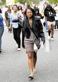 Manthipe Moila, who took part in the Slutwalk at the weekend and wrote about the experience Picture: SIMPHIWE NKWALI