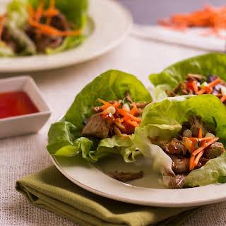 Vietnamese Pulled Pork Lettuce Wraps.