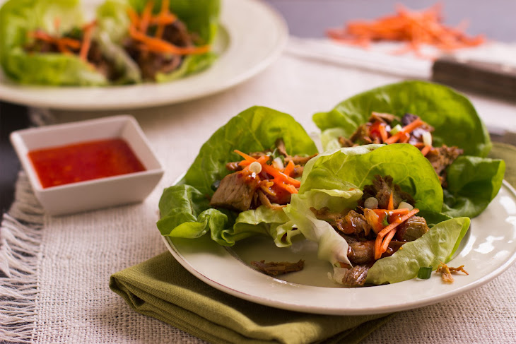 Vietnamese Pulled Pork Lettuce Wraps Recipe