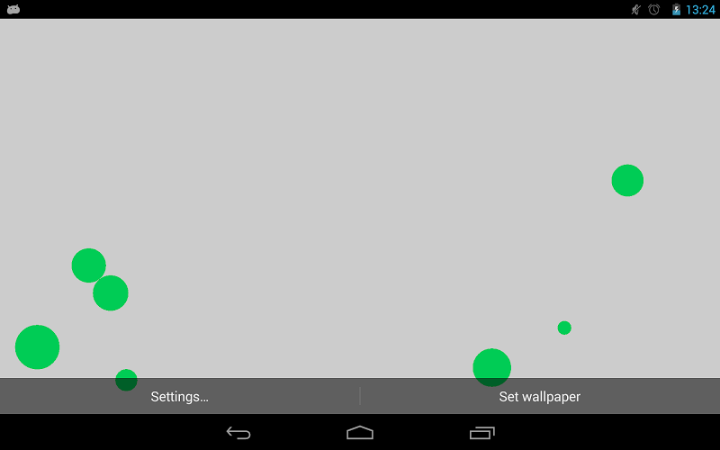 Скриншот Particles Live Wallpaper