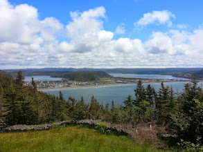 Photo: Placentia Newfoundland from old battlements on the heights.