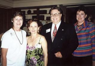 Photo: Carol (Craven) Barnes, Nancy (Seiler) Mc Carthy, George Mayes, Diana Hawley