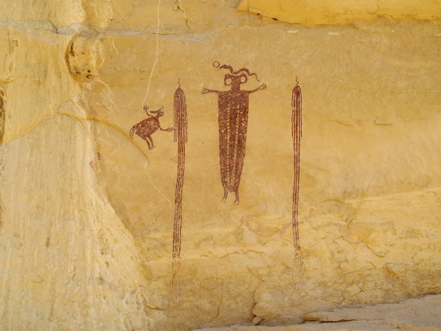 Locomotive Point pictographs