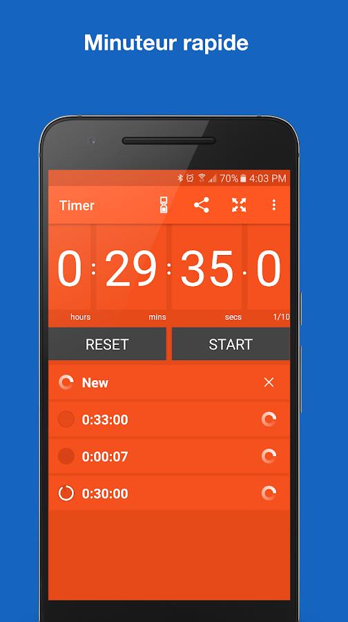 Chronom tre minuteur applications android sur google play - Chronometre et minuteur ...