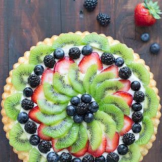 Fresh Fruit Tart with Diplomat Cream