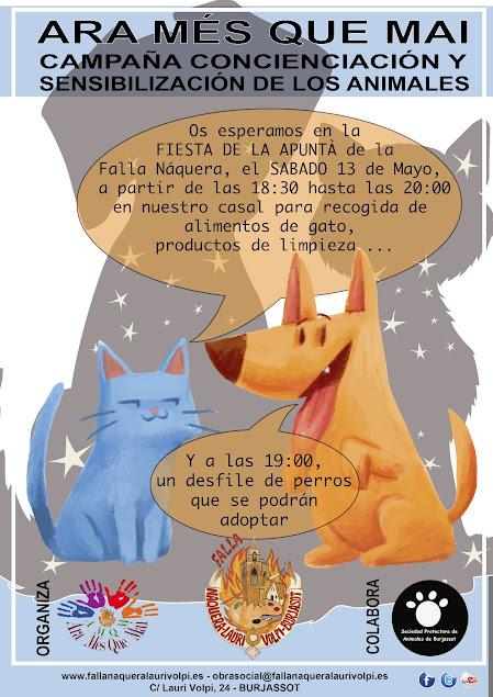 SOMOS ALGO MÁS¨ Campaña de Concienciación y Sensibilización de los animales de Naquera-Lauri Volpi