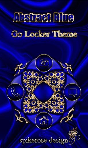 Abstract Blue Go Locker theme