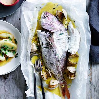 Snapper And Clams En Papillote With Tarragon Beurre Blanc