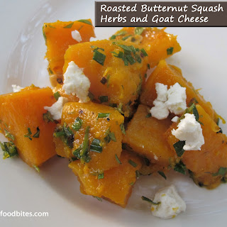 Roasted Butternut Squash with Herbs and Goat Cheese