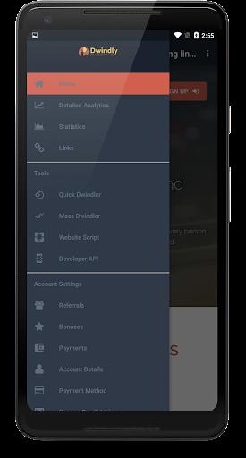 Dwindly.io - Earn Money By Sharing Links! 1.1 screenshots 1