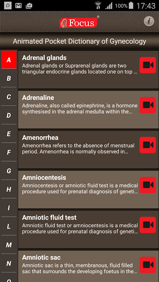 Gynecology-Animated Dictionary- screenshot