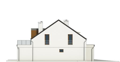 Makolągwa z garażem 1-st. bliźniak A-BL1 - Elewacja lewa