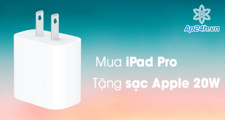Tang sạc 20W Apple chinh hang khi mua iPad