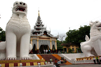 Photo: Year 2 Day 55 -  Bottom of Mandalay Hill Guarded by These Lions