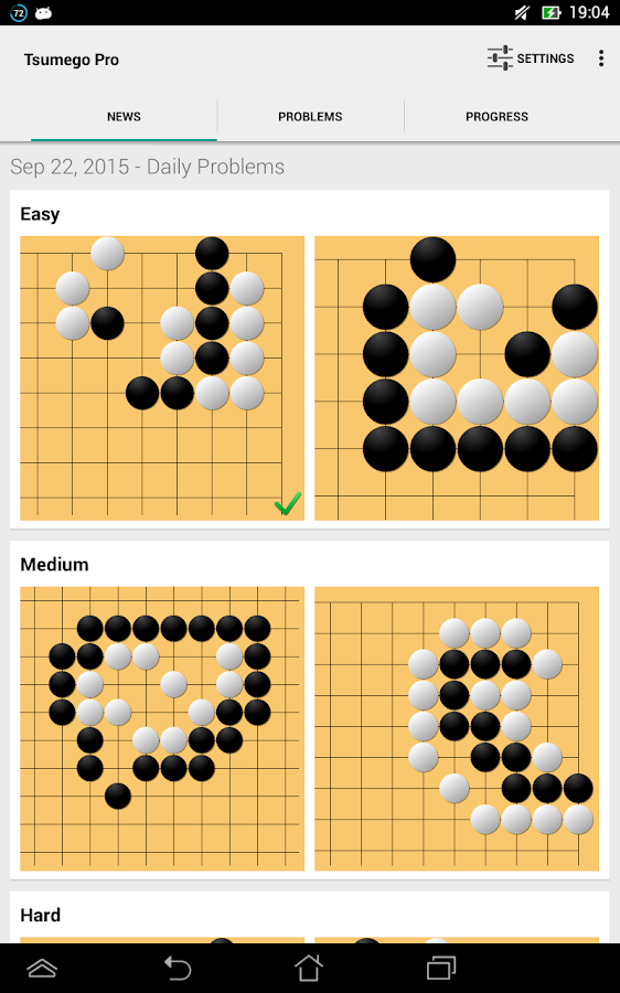 Tsumego Pro (Go Problems)- screenshot