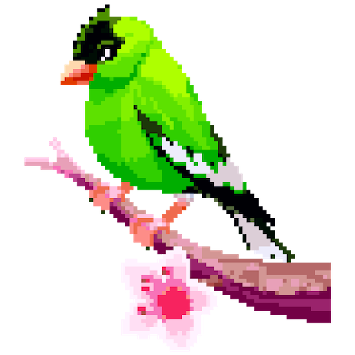 Birds Color by Number: Pixel Art, Sandbox Coloring Icon