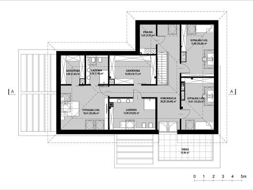New House 7 - Rzut poddasza - wariant