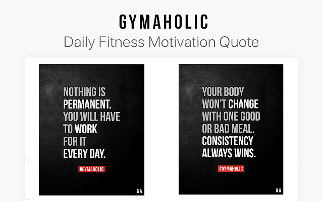 Gymaholic: Fitness Workout Motivation Quotes