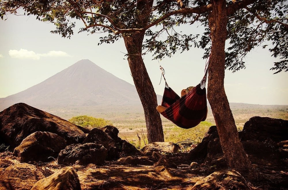 chilling in a hammock infront of a volcano is one of the best things to do in chile.jpg