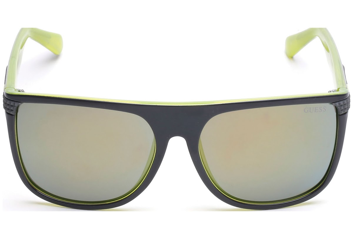 aeff0ab79f Buy Guess GU6837 C58 20Q (grey other   green mirror) Sunglasses ...