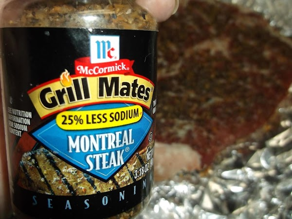 2 to 3 hours before cooking, unwrap steaks and sprinkle each side of steaks...