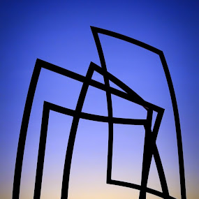 Plejaren Monolith by Mladen Bozickovic - Buildings & Architecture Statues & Monuments ( statue architecture silhouette sun sunset sundown sky rectangular design monolith )