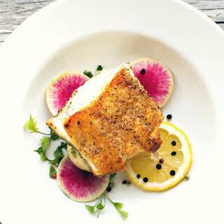 Salt and Pepper Crusted Sea Bass.