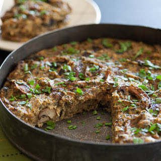 Baked Mushroom-Polenta Pie