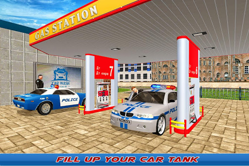 Gas Station Police Car Services: Gas Station Games 1.0 screenshots 1