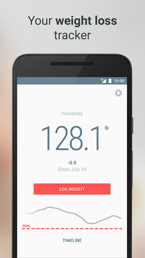 Weight loss tracker – Monitor your body and diet- screenshot