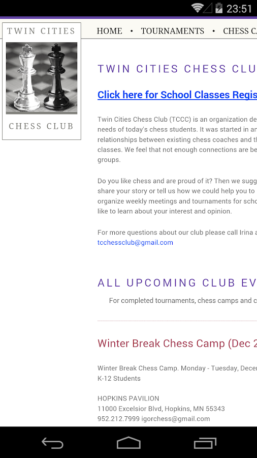 Twin Cities Chess Club- screenshot