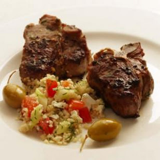 Herbed Lamb Chops with Greek Couscous Salad